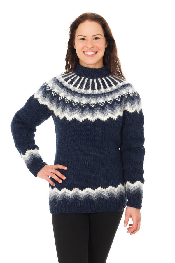 Særún - Icelandic Sweater - Dark Blue, Icelandic Sweater Pullover - icelandicstore.is