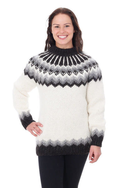 Snotra - Icelandic Sweater - White, Icelandic Sweater Pullover - icelandicstore.is