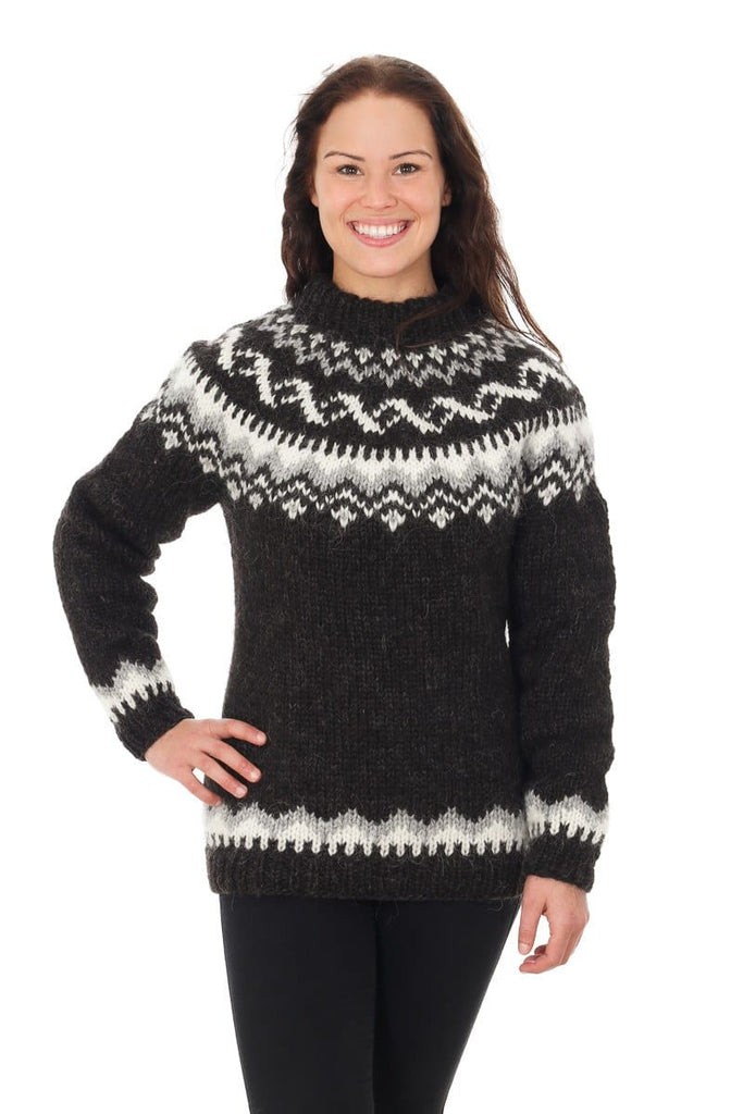 8a6622d7d Hrafnhildur - Icelandic Sweater - Black Sheep