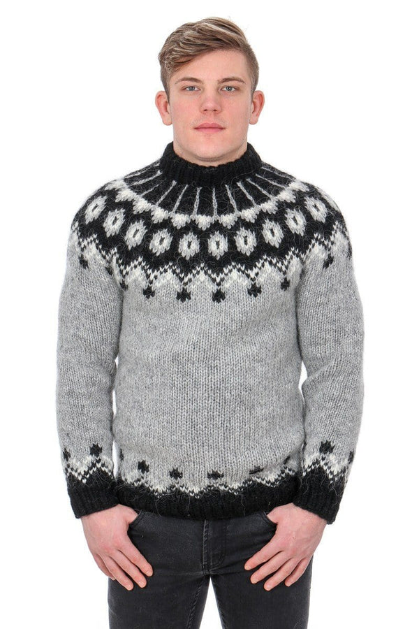 Hænir - Icelandic Sweater - Ash Heather, Men's Custom Sweaters - icelandicstore.is