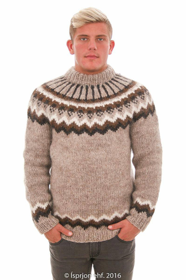 Odin - Icelandic Sweater - Light Beige, Icelandic Sweater Pullover - icelandicstore.is