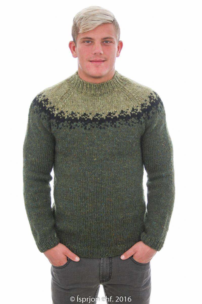 Viðar - Icelandic Sweater - Green - icelandicstore.is