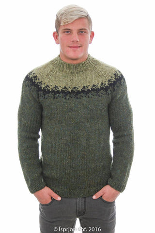 Viðar - Icelandic Sweater - Green, Icelandic Sweater Pullover - icelandicstore.is