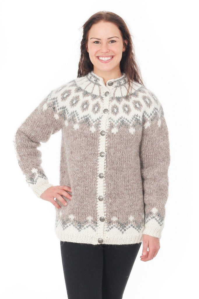 4a5235a29 Gerður - Icelandic Wool Cardigan - Light Beige – icelandicstore.is