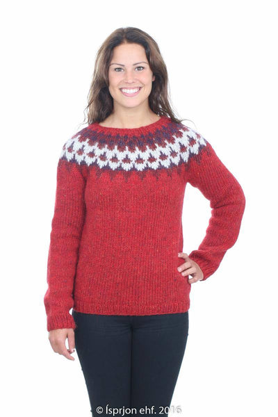 Gefjun - Icelandic Sweater - Red, Icelandic Sweater Pullover - icelandicstore.is