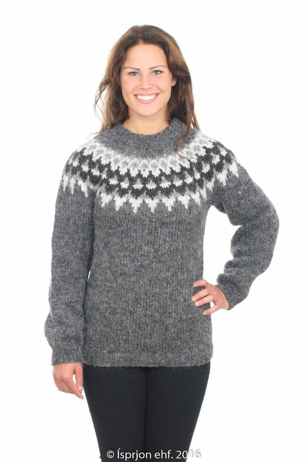 Nanna - Icelandic Sweater - Dark Grey, Icelandic Sweater Pullover - icelandicstore.is