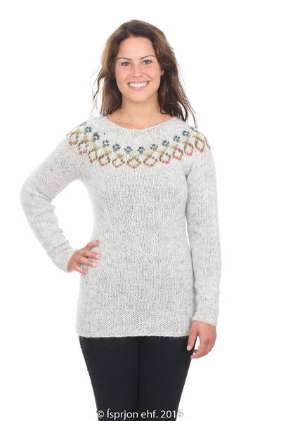 Sunna - Icelandic Sweater - Light Ash Heather, Icelandic Sweater Pullover - icelandicstore.is
