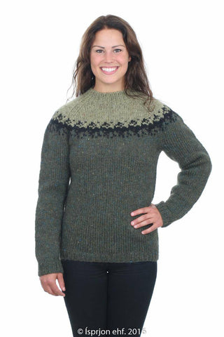 Skaði - Icelandic Sweater - Spruce Green, Icelandic Sweater Pullover - icelandicstore.is