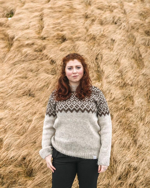 Borg - Icelandic sweater (Oatmeal), Kidka Sweater - icelandicstore.is