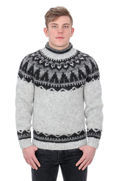 Hermóður - Icelandic Sweater - Light Ash Heather, Icelandic Sweater Pullover - icelandicstore.is