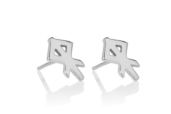 HEART / HJARTA SILVER EARRING STUDS, Alrún Earring - icelandicstore.is