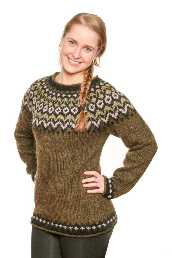 Riddari - Icelandic Sweater - Green, Icelandic Sweater Pullover - icelandicstore.is