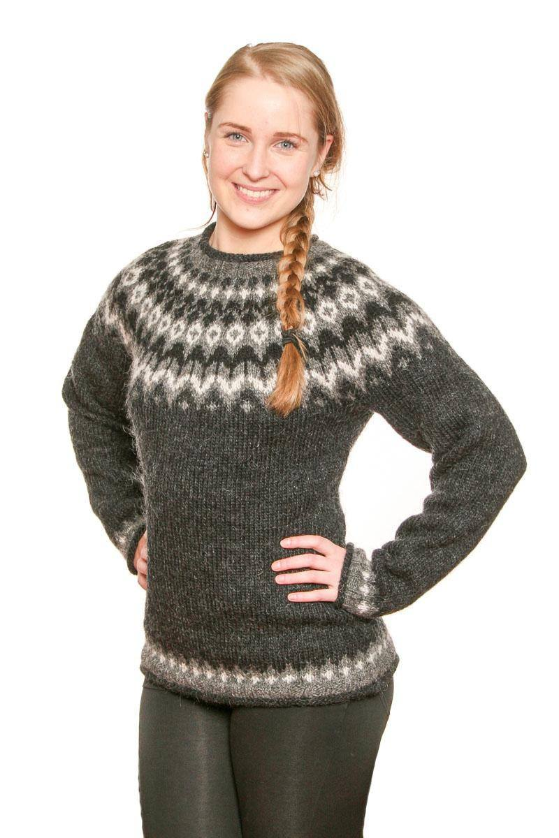 Riddari - Icelandic Sweater - Black, Icelandic Sweater Pullover - icelandicstore.is