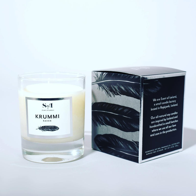 Krummi - Raven fragrance: Raspberries, coconut & vanilla, Icelandic Candle - icelandicstore.is