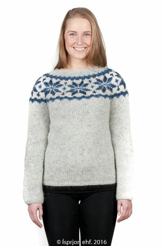 Frostrose - Icelandic Sweater - Blue