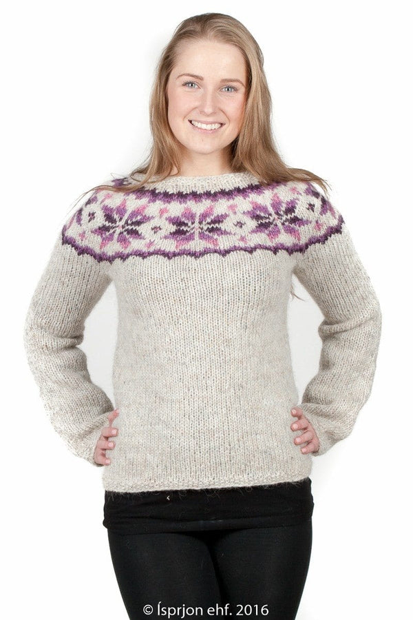 Frostrose - Icelandic Sweater - Pink, Icelandic Sweater Pullover - icelandicstore.is