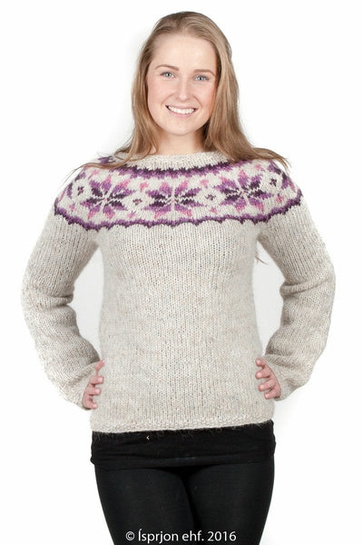Frostrose - Icelandic Sweater - Pink