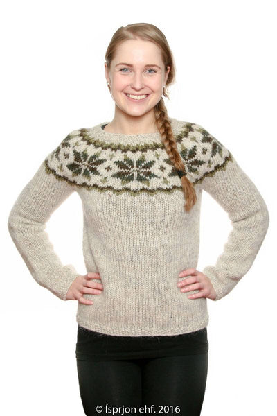 Frostrose - Icelandic Sweater - Green, Icelandic Sweater Pullover - icelandicstore.is