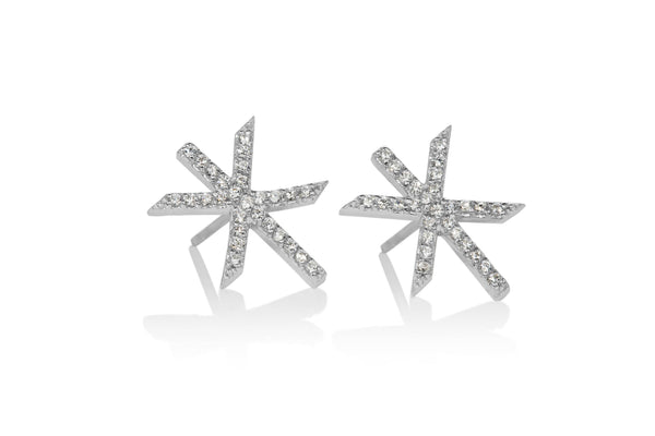 STRENGTH / MAGN SILVER STUD EARRINGS, Alrún Earring - icelandicstore.is