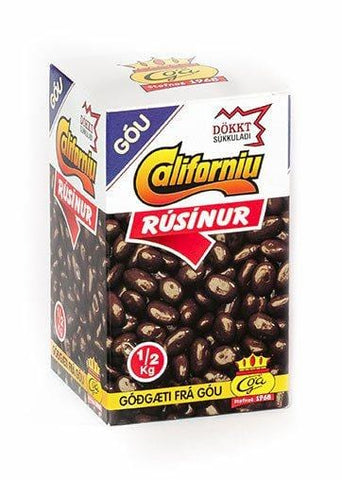 Góa - Dark Chocolate Raisins, Icelandic Candy - icelandicstore.is
