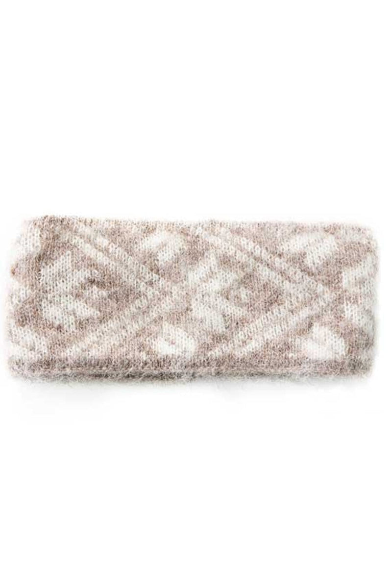 Brushed Wool Headband - Beige, Wool Headband - icelandicstore.is