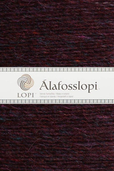 Alafoss Lopi - 9961 Bordeaux Heather, Álafoss Wool Yarn - icelandicstore.is