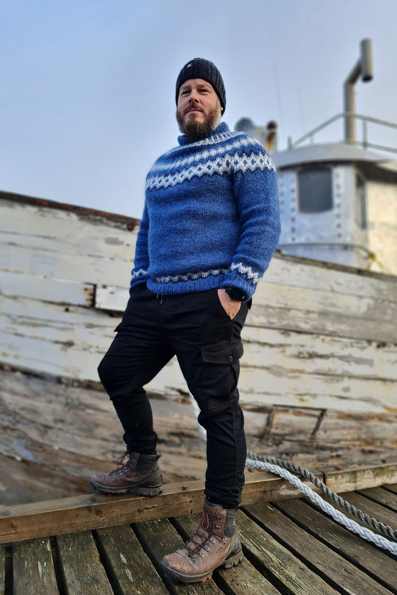 Hrólfur - Icelandic Sweater - Blue, Icelandic Sweater Pullover - icelandicstore.is