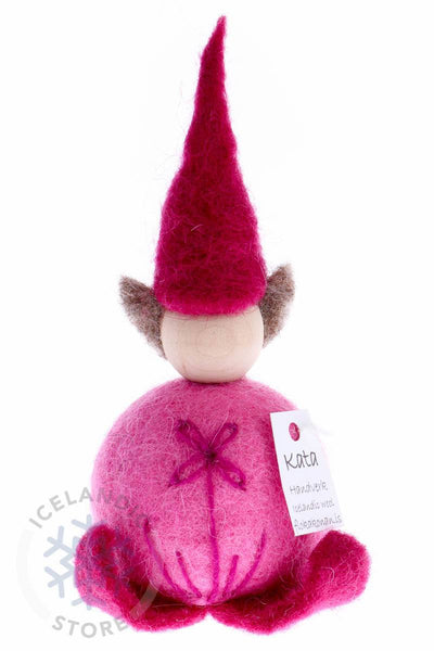Felted wool Elf- Pink, Woolcraft - icelandicstore.is