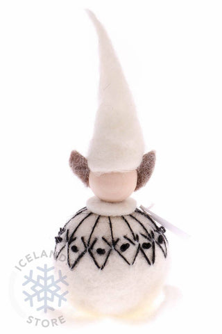 Felted wool Elf- White, Woolcraft - icelandicstore.is
