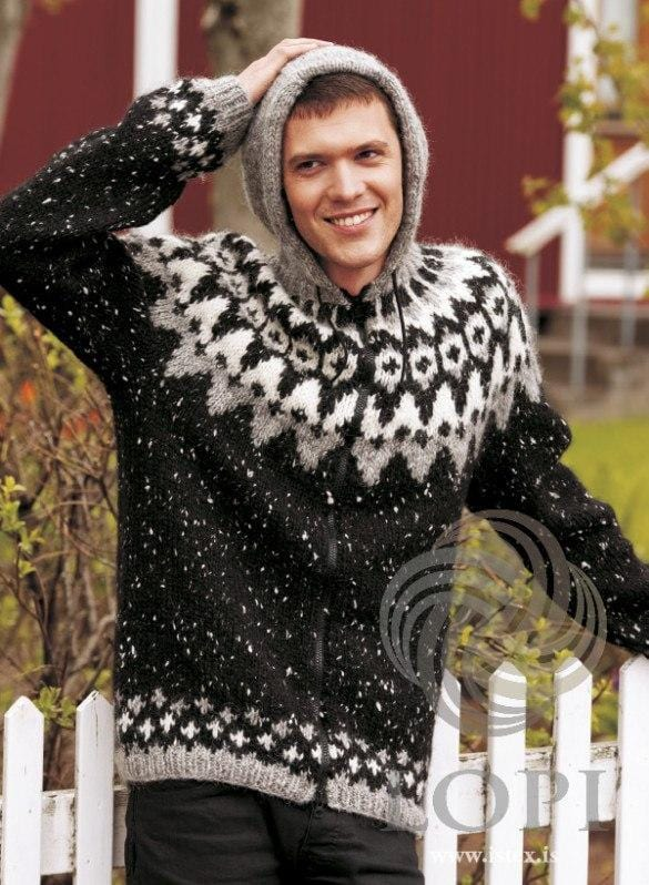 Frost - Black Knitting Kit - icelandicstore.is