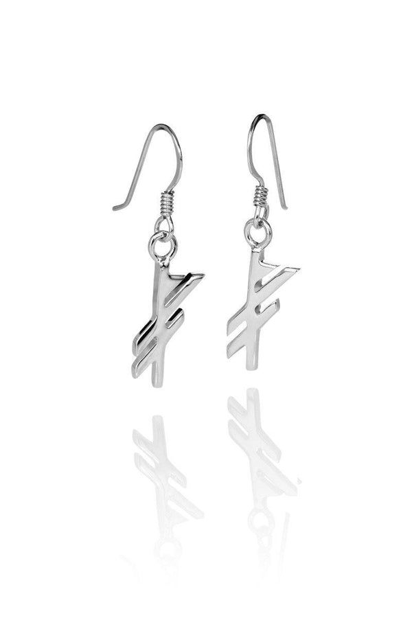 LUCK / GÆFA SILVER EARRINGS, Alrún Earring - icelandicstore.is