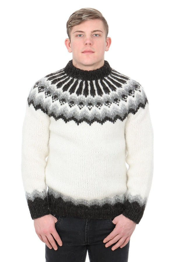 Vé - Icelandic Sweater - White, Men's Custom Sweaters - icelandicstore.is