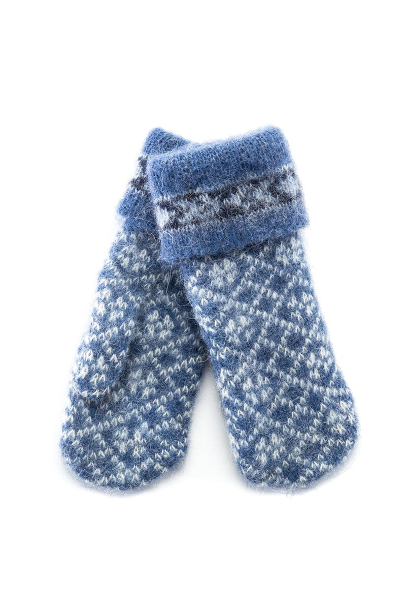 Brushed Wool Mittens - Norwegian Blue, Wool Mittens - icelandicstore.is