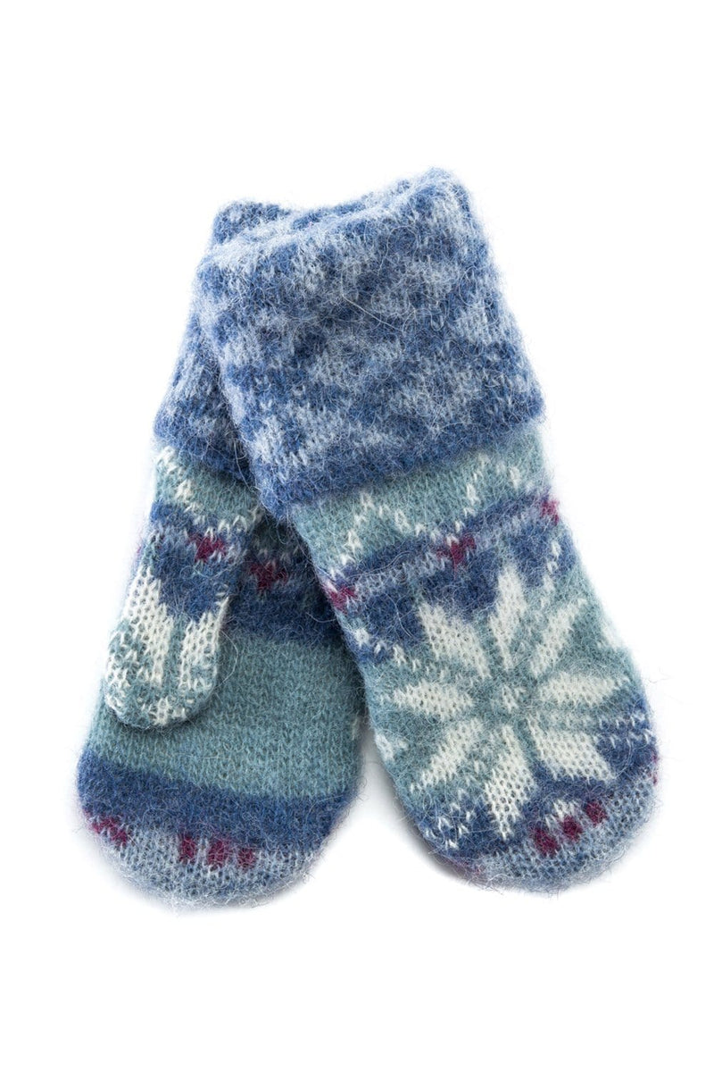 Brushed Wool Mittens - Blue Frostrose - icelandicstore.is