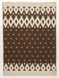 Jaquard Lopi Blanket - Brown, Icelandic Blanket - icelandicstore.is