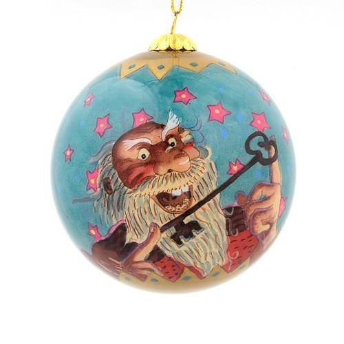 Handpainted Christmas Ball Ornament, Doorslammer & Skyr Glutton, Yule Lad Ornament - icelandicstore.is