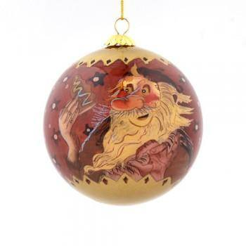 Handpainted Christmas Ball Ornament, Doorway Sniffer & Meat Hook, Yule Lad Ornament - icelandicstore.is