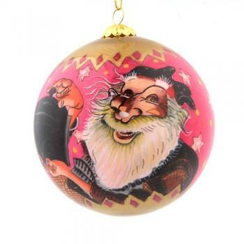 Handpainted Christmas Ball Ornament, Pot Licker & Bowl Licker, Yule Lad Ornament - icelandicstore.is