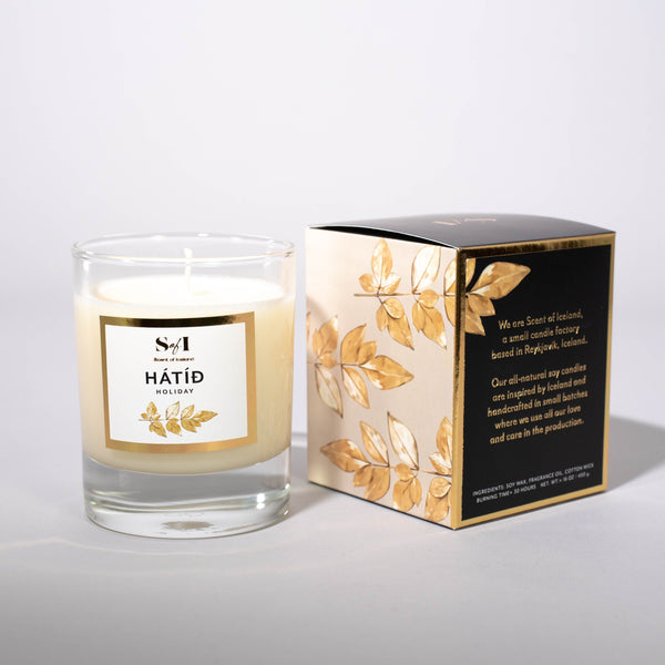 Hátíð / Holiday fragrance: Peppermint & vanilla, Icelandic Candle - icelandicstore.is