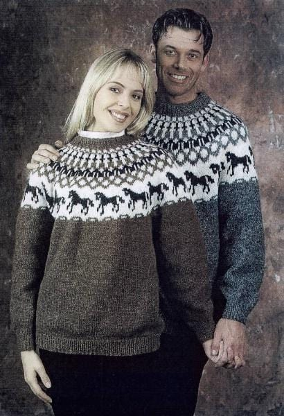 Horses - Free Knitting pattern - icelandicstore.is