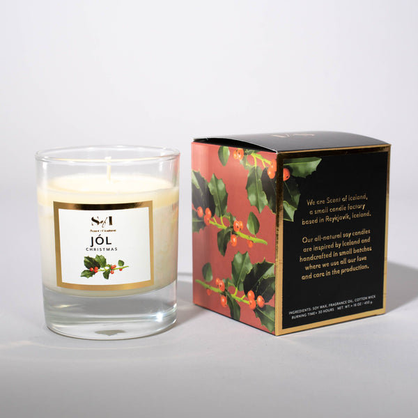 Jól / Christmas fragrance: Cinnamon, orange & clove, Icelandic Candle - icelandicstore.is