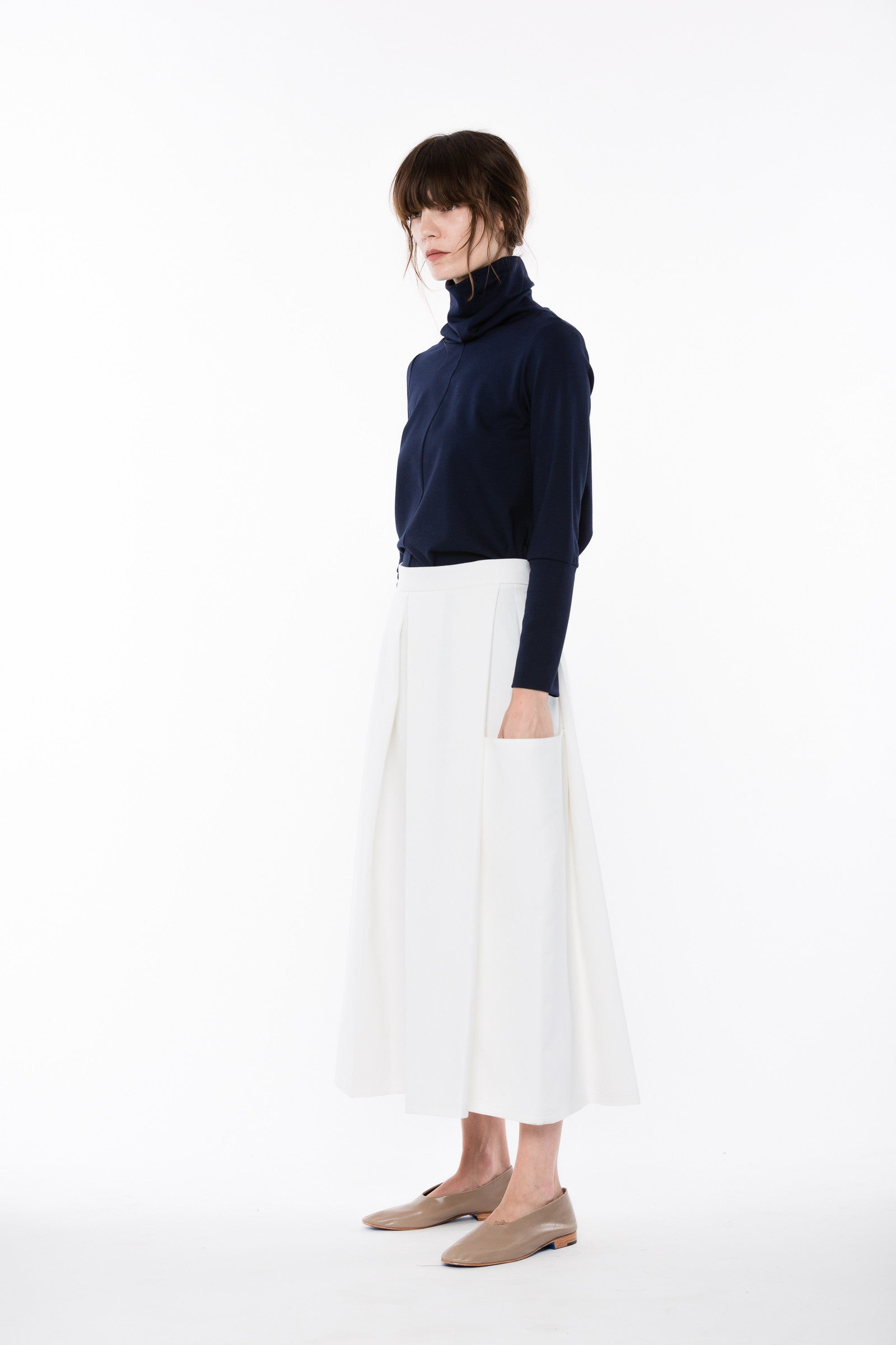 Enders Culotte in White Denim