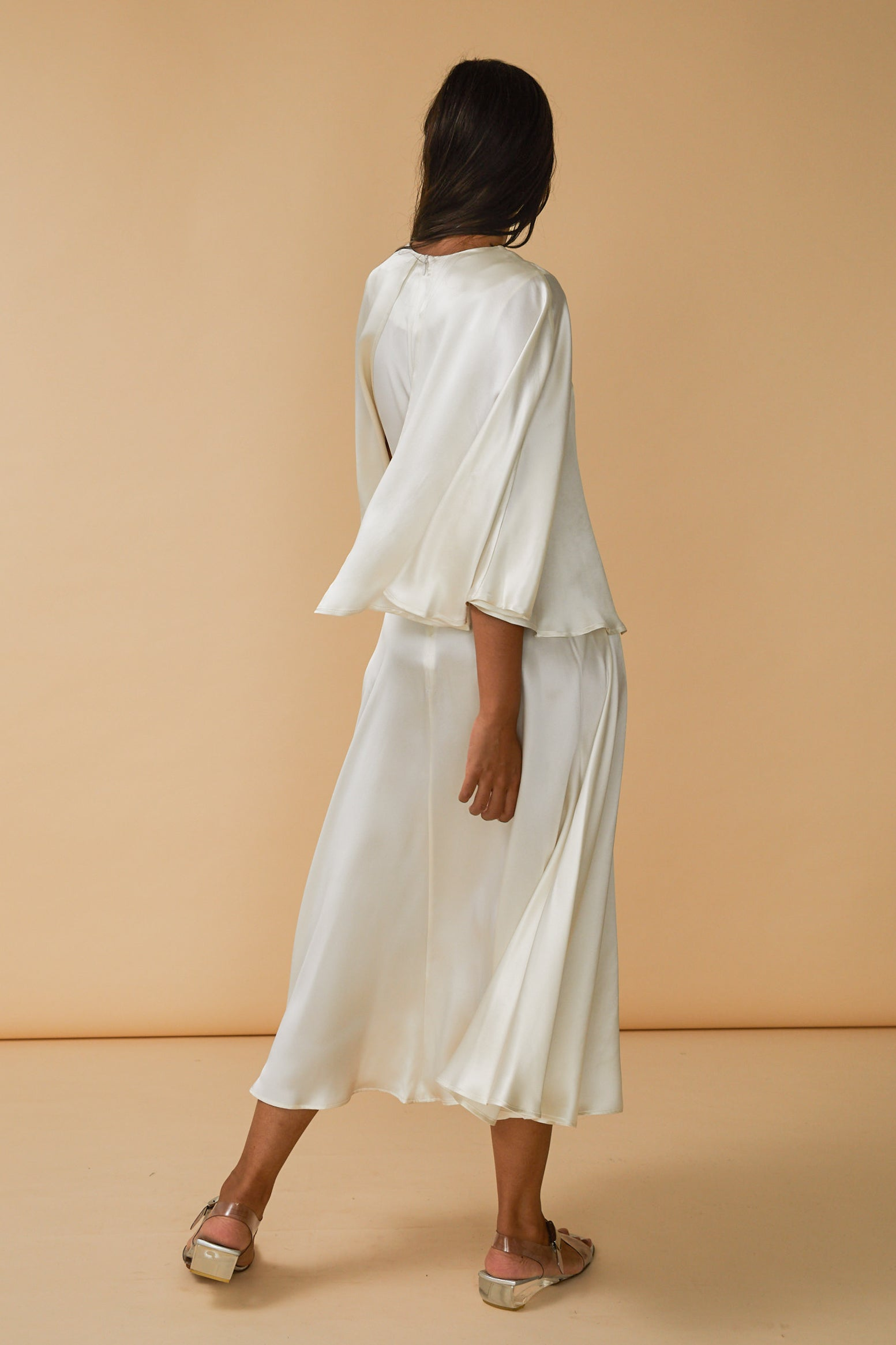 Kepu Dress in Cloud Silk Charmeuse