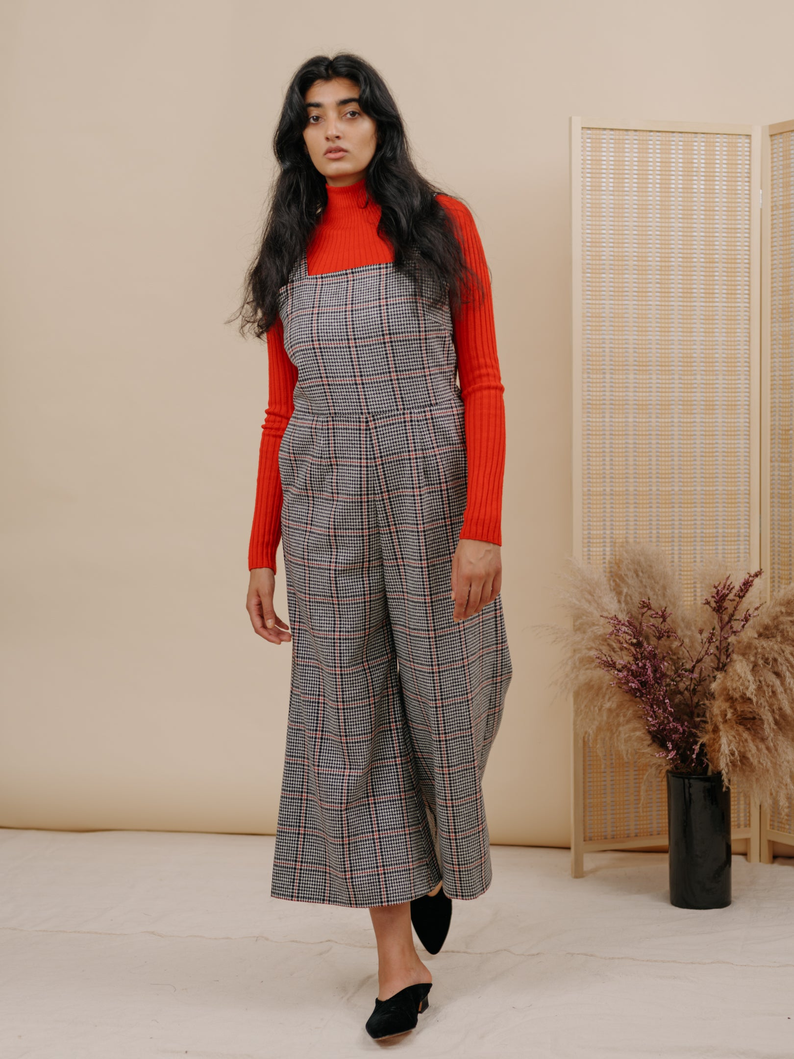 Kate Jumpsuit in Houndstooth Wool