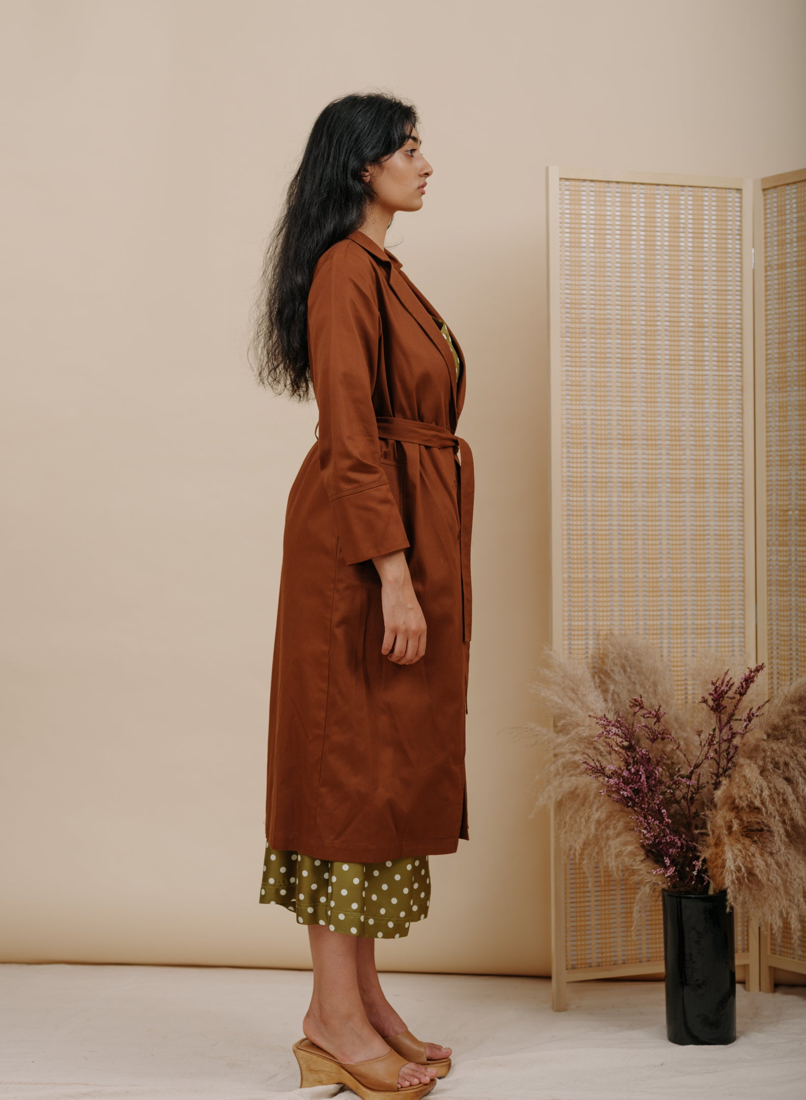 New Norma Jacket in Brown Cotton