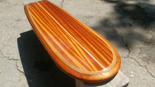 "4' 3"" Wooden Surfboard Coffee Table - ready to add any type of base or legs at www.tablelegsonline.com ""The Santa Cruz"" wood surfboard wall art home decor wall mount"