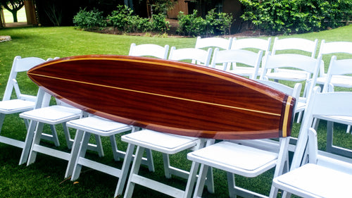 wooden surfboard decor 8'3