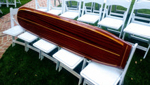 "7'3"" x 18"" x 2.1/2""  The ""Santa Cruz""  Redwood and Sapele Mahogany, wooden surfboard wall art home decor"
