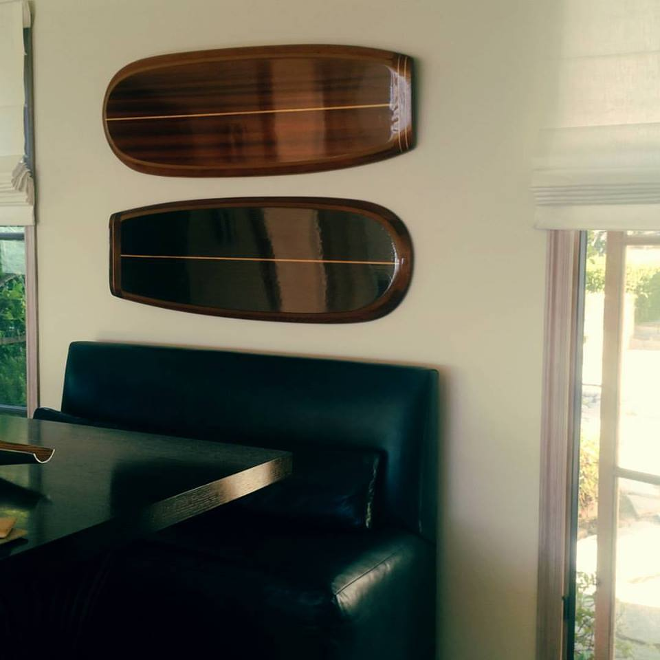 wooden surfboard for wall