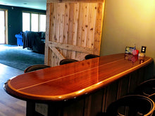 "7'3""  x  20""  x  2.1/2"" custom extra width bar-table wood surfboard wall art home decor wall mount"
